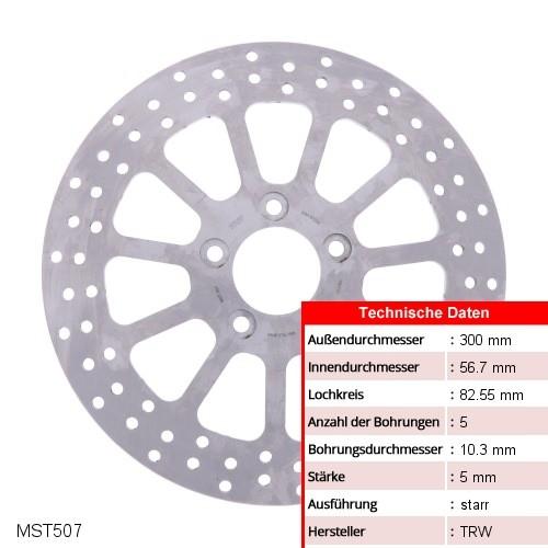 Bremsscheibe starr TRW MST507 (1 Stück)