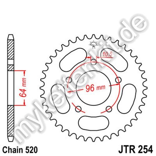 Kettenrad JTR254 Stahl