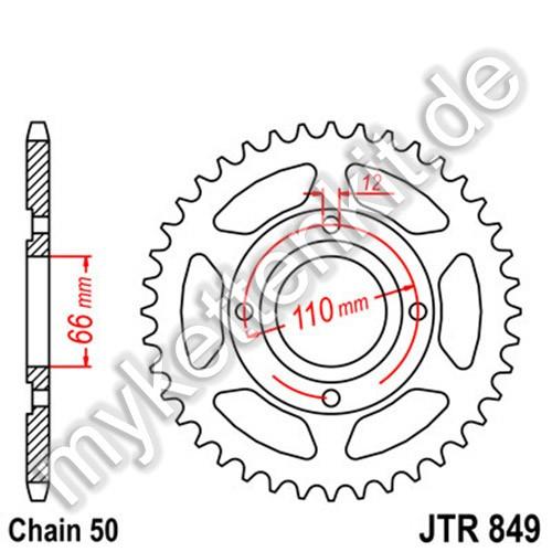 Kettenrad JTR849 Stahl