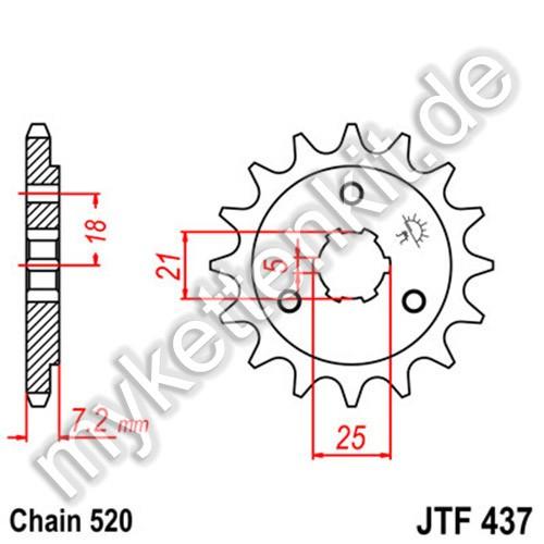 Ritzel JT Sprockets JTF437