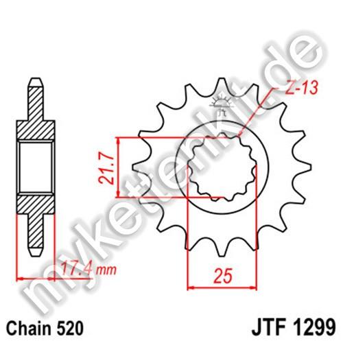 Ritzel JT Sprockets JTF1299