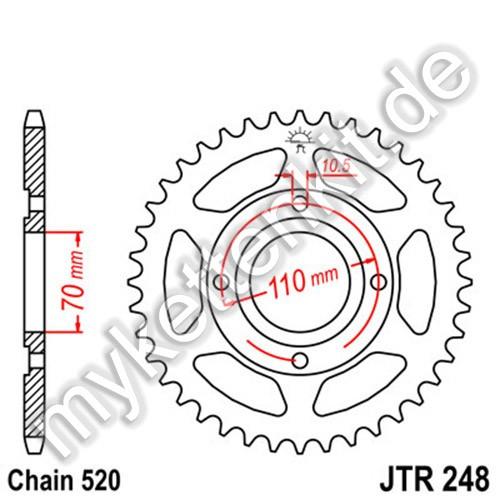 Kettenrad JTR248 Stahl