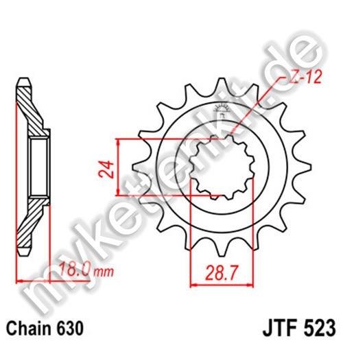 Ritzel JT Sprockets JTF523