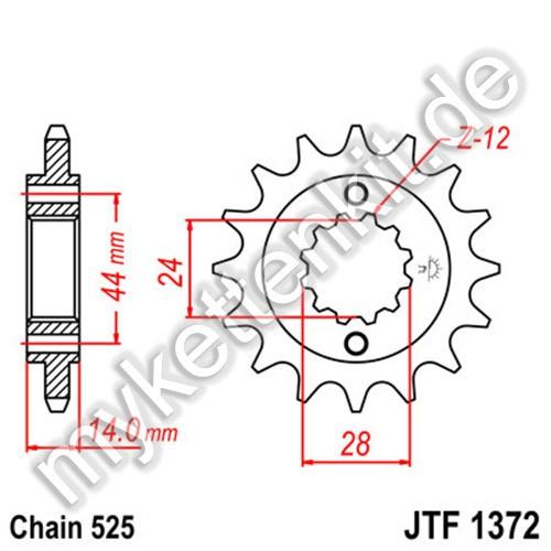 Ritzel JT Sprockets JTF1372