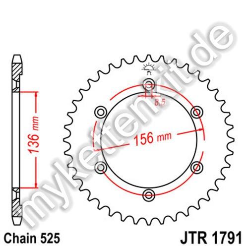 Kettenrad JTR1791 Stahl