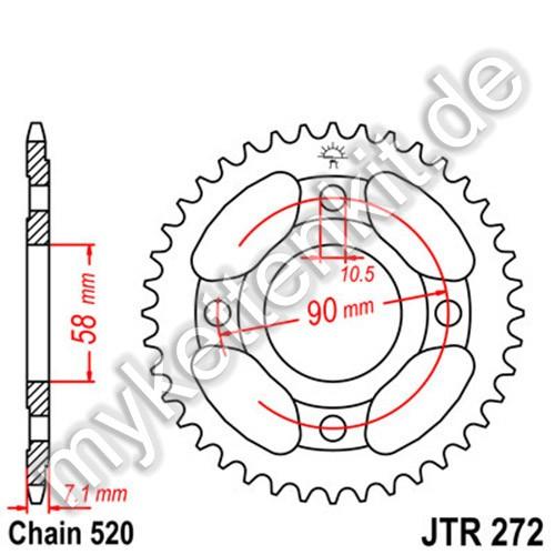 Kettenrad JTR272 Stahl