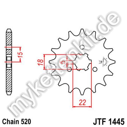 Ritzel JT Sprockets JTF1445