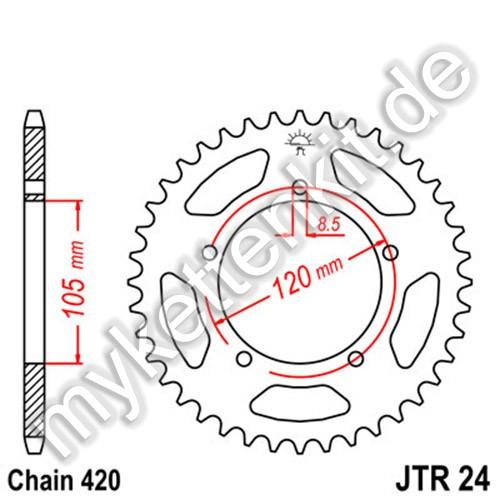 Kettenrad JTR24 Stahl