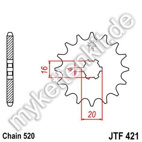 Ritzel JT Sprockets JTF421