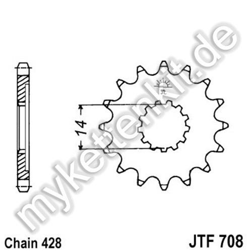 Ritzel JT Sprockets JTF708