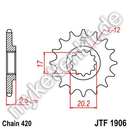Ritzel JT Sprockets JTF1906