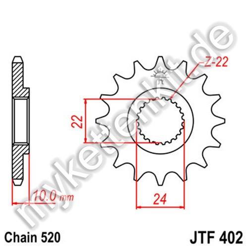Ritzel JT Sprockets JTF402