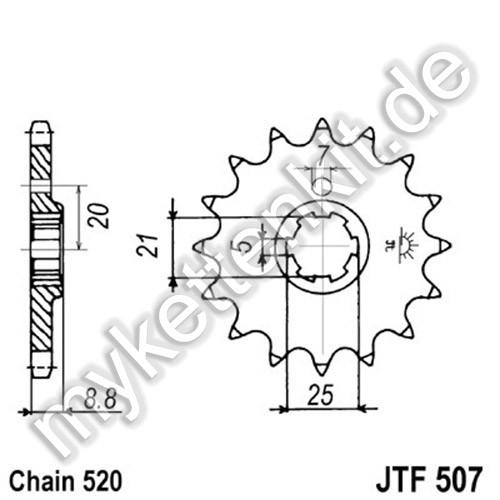 Ritzel JT Sprockets JTF507