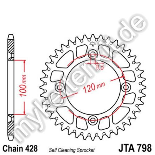 Kettenrad JTA798 Alu