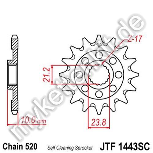 Ritzel JT Sprockets JTF1443