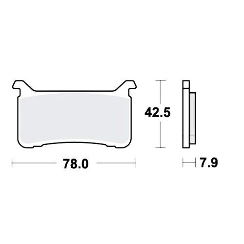 Bremsklotz Carbon CRQ TRW MCB893CRQ (1 Satz)