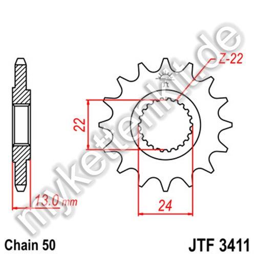 Ritzel JT Sprockets JTF3411