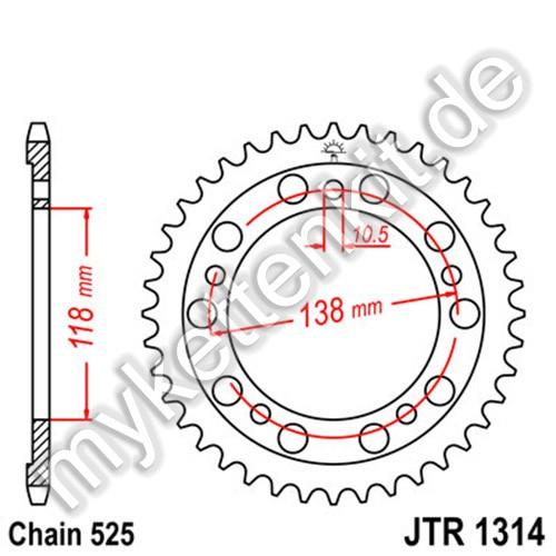 Kettenrad JTR1314 Stahl