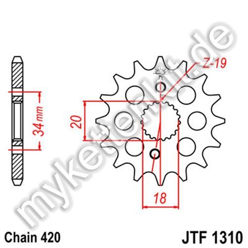 Ritzel JT Sprockets JTF1310
