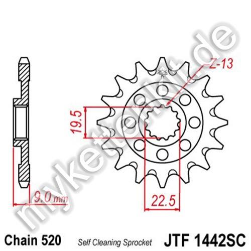 Ritzel JT Sprockets JTF1442