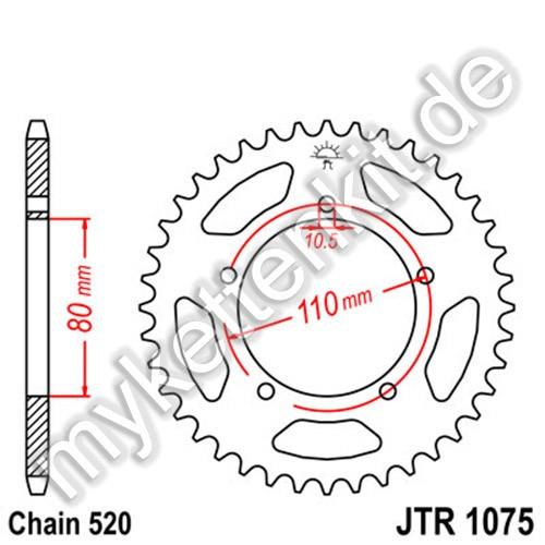 Kettenrad JTR1075 Stahl
