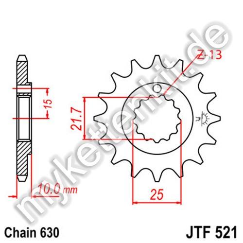 Ritzel JT Sprockets JTF521