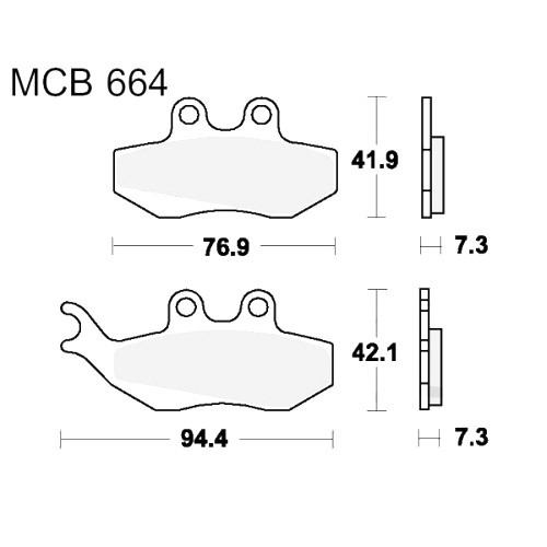 Bremsklotz Standard TRW MCB664 (1 Satz)