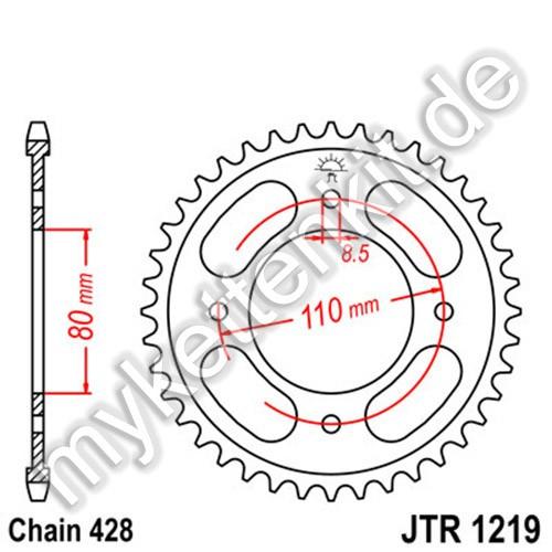 Kettenrad JTR1219 Stahl
