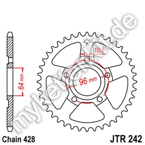 Kettenrad JTR242 Stahl