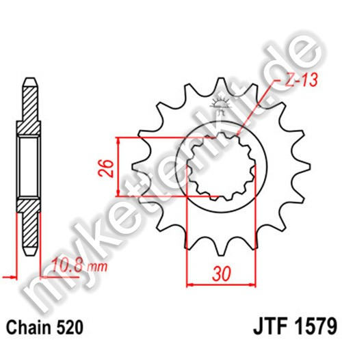 Ritzel JT Sprockets JTF1579