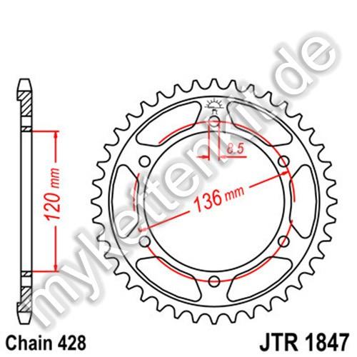 Kettenrad JTR1847 Stahl