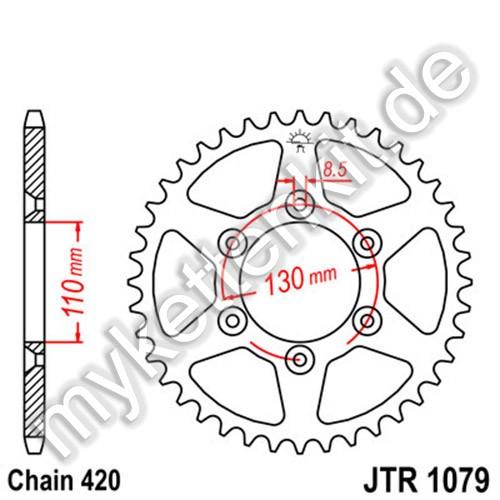 Kettenrad JTR1079 Stahl