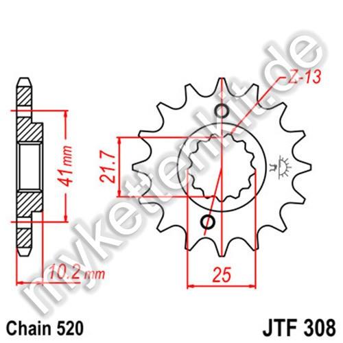Ritzel JT Sprockets JTF308