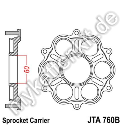 Kettenradträger JTA760B
