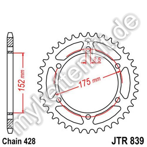 Kettenrad JTR839 Stahl