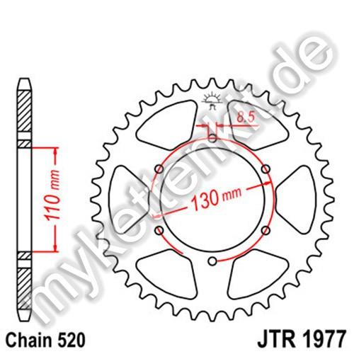 Kettenrad JTR1977 Stahl