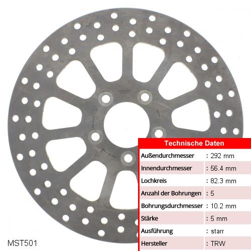 Bremsscheibe starr TRW MST501 (1 Stück)