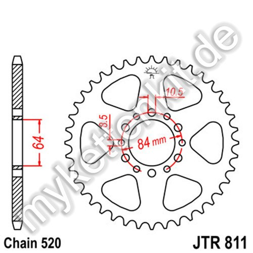 Kettenrad JTR811 Stahl