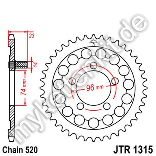 Kettenrad JTR1315 Stahl