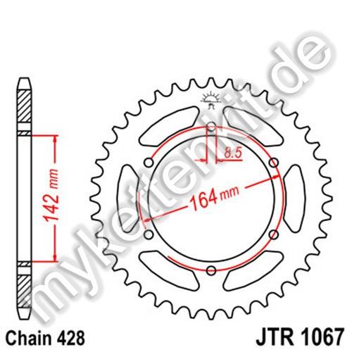Kettenrad JTR1067 Stahl