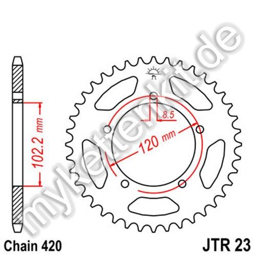 Kettenrad JTR23 Stahl