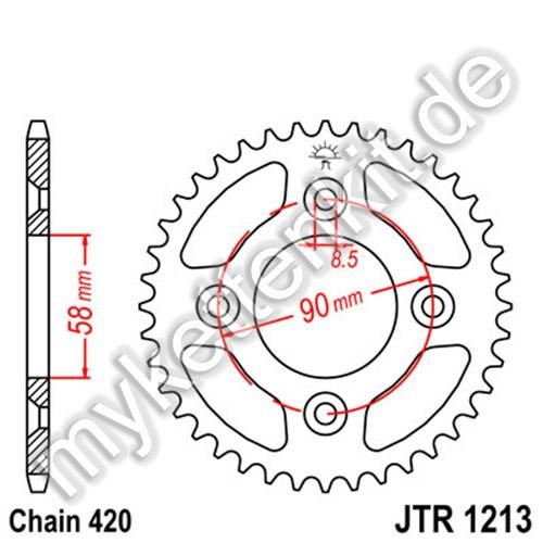 Kettenrad JTR1213 Stahl
