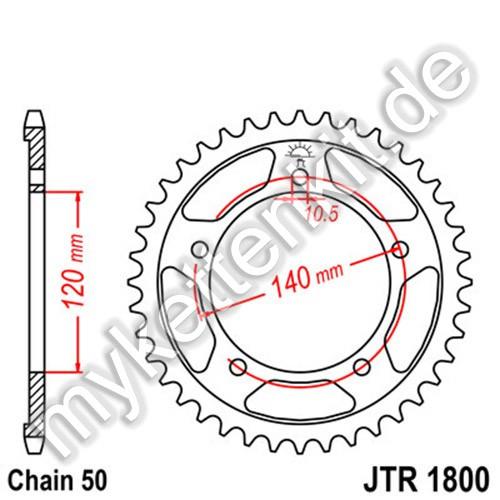 Kettenrad JTR1800 Stahl