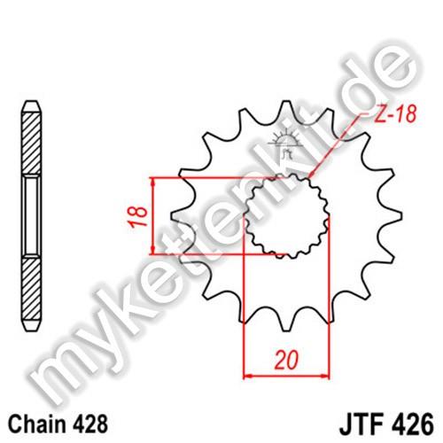 Ritzel JT Sprockets JTF426