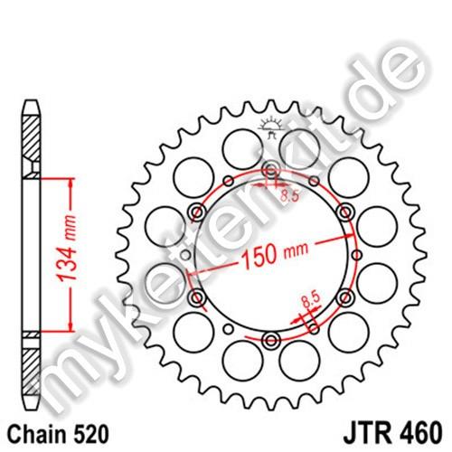 Kettenrad JTR460 Stahl