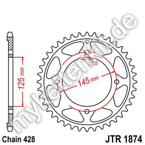 Kettenrad JTR1874 Stahl