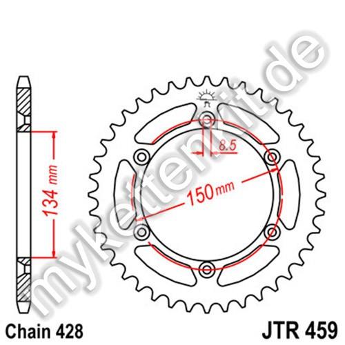 Kettenrad JTR459 Stahl