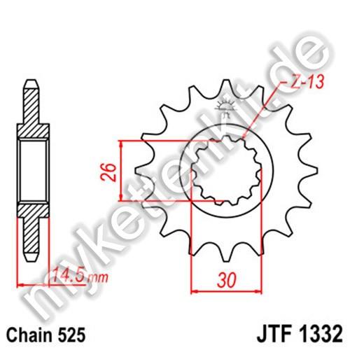 Ritzel JT Sprockets JTF1332