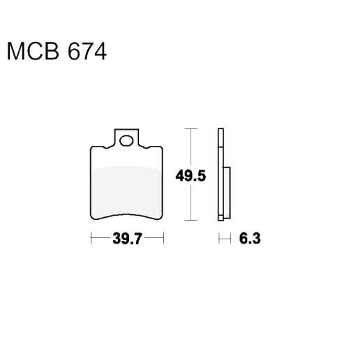 Bremsklotz Scooter TRW MCB674EC (1 Satz)