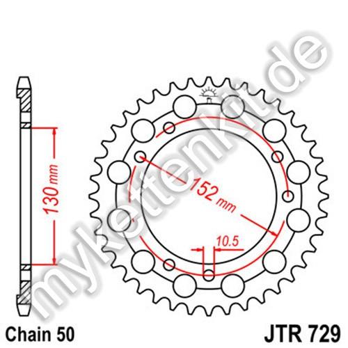 Kettenrad JTR729 Stahl